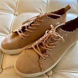 H&M sneakers pale pink mauve sz 7.5 good condition